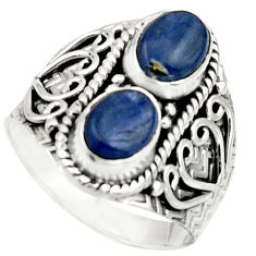 3.28cts natural blue kyanite 925 sterling silver ring jewelry size 8.5 r17510