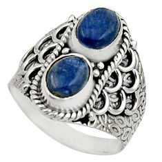 3.01cts natural blue kyanite 925 sterling silver ring jewelry size 7.5 r17513