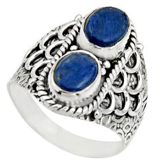 3.16cts natural blue kyanite 925 sterling silver ring jewelry size 7.5 r17514