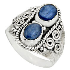 925 sterling silver 3.14cts natural blue kyanite ring jewelry size 8.5 r17515