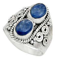 3.16cts natural blue kyanite 925 sterling silver ring jewelry size 7.5 r17516