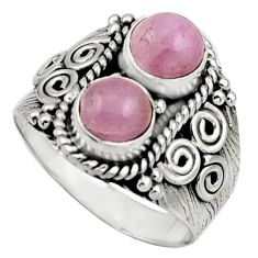 2.35cts natural pink kunzite 925 sterling silver ring jewelry size 7 r17551