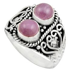 2.52cts natural pink kunzite 925 sterling silver ring jewelry size 8.5 r17552