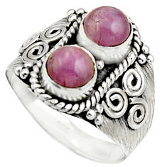 2.35cts natural pink kunzite 925 sterling silver ring jewelry size 7.5 r17553