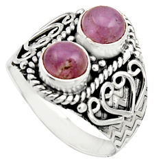 2.52cts natural pink kunzite 925 sterling silver ring jewelry size 7.5 r17554