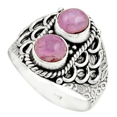 2.44cts natural pink kunzite 925 sterling silver ring jewelry size 9 r17555
