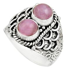 2.33cts natural pink kunzite 925 sterling silver ring jewelry size 7 r17556