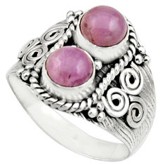 2.35cts natural pink kunzite 925 sterling silver ring jewelry size 8 r17558