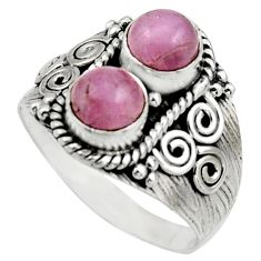 2.44cts natural pink kunzite 925 sterling silver ring jewelry size 8.5 r17559
