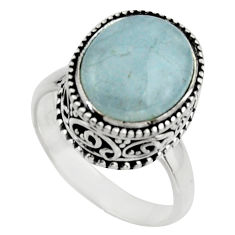 925 silver 5.30cts natural blue aquamarine solitaire ring jewelry size 7 r17576