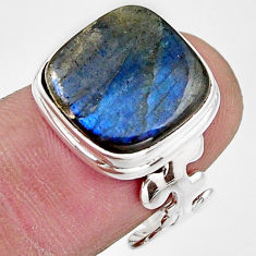 8.03cts natural blue labradorite 925 silver solitaire ring jewelry size 7 r17907