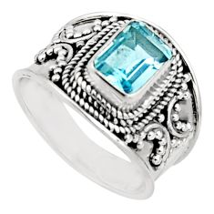 2.01cts natural blue topaz 925 silver solitaire ring jewelry size 7 r18103