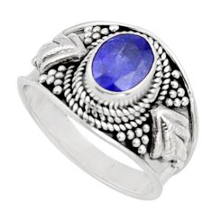 2.02cts natural blue tanzanite 925 silver solitaire ring jewelry size 7 r18112