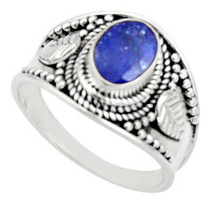 925 silver 2.14cts natural blue tanzanite oval solitaire ring size 7.5 r18117