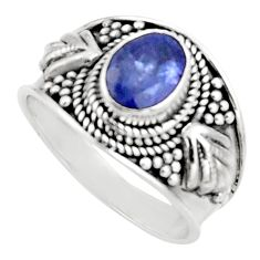 2.01cts natural blue tanzanite 925 silver solitaire ring jewelry size 7.5 r18118