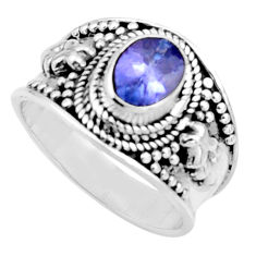 925 silver 2.24cts natural blue tanzanite solitaire ring jewelry size 7 r18120