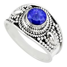 1.00cts natural blue sapphire 925 silver solitaire ring jewelry size 7.5 r18141