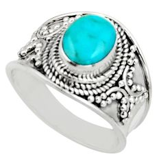 3.02cts natural blue chrysocolla 925 silver solitaire ring jewelry size 8 r18145
