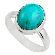 5.16cts natural green opaline 925 silver solitaire ring jewelry size 8 r18201