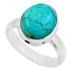 925 silver 5.11cts natural green opaline solitaire ring jewelry size 7 r18204