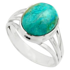 5.28cts natural green opaline 925 silver solitaire ring jewelry size 8 r18209