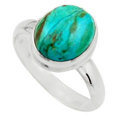 4.93cts natural green opaline 925 silver solitaire ring jewelry size 9 r18214