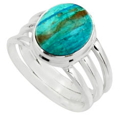 5.01cts natural green opaline 925 silver solitaire ring jewelry size 9 r18215