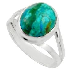 5.16cts natural green opaline 925 silver solitaire ring jewelry size 8 r18217