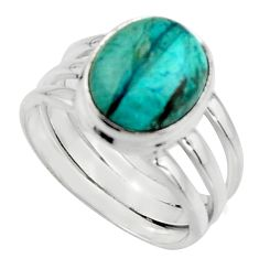 5.01cts natural green opaline 925 silver solitaire ring jewelry size 8 r18219
