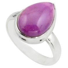 6.31cts natural purple phosphosiderite 925 silver solitaire ring size 8 r18223
