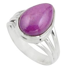 925 silver 6.83cts natural purple phosphosiderite solitaire ring size 8 r18228