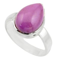 6.58cts natural purple phosphosiderite 925 silver solitaire ring size 8.5 r18239