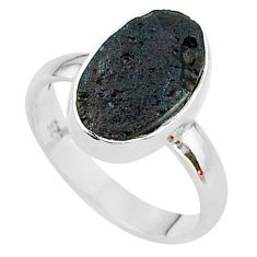 4.99cts a gem from space tektite 925 sterling silver ring size 7 t14405
