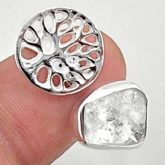 6.02cts adjustable herkimer diamond 925 silver tree of life ring size 8 t49344