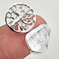 5.53cts adjustable herkimer diamond 925 silver tree of life ring size 8 t49348