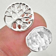5.38cts adjustable herkimer diamond 925 silver tree of life ring size 6.5 t49354