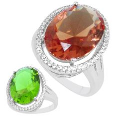 11.19cts alexandrite (lab) topaz 925 silver solitaire ring size 9 a95360 c11242
