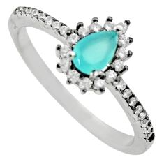 2.49cts aqua chalcedony 925 sterling silver ring jewelry size 8 c9457