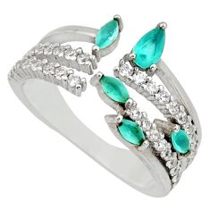 3.28cts aqua chalcedony topaz 925 silver adjustable ring size 8 c9141