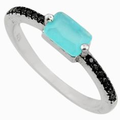 1.86cts aqua chalcedony topaz 925 sterling silver ring size 5.5 c9438