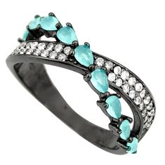 2.42cts aqua chalcedony topaz 925 sterling silver ring size 6 c9023
