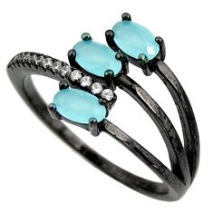2.50cts aqua chalcedony topaz 925 sterling silver ring size 7 c9025