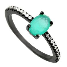 2.13cts aqua chalcedony topaz 925 sterling silver ring size 7 c9032