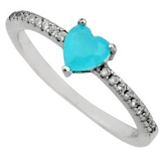 1.70cts aqua chalcedony topaz 925 sterling silver ring size 7 c9427