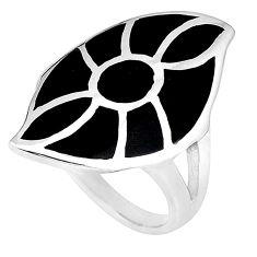 Black onyx enamel 925 sterling silver ring jewelry size 6.5 a75945 c13209