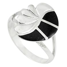 Black onyx enamel 925 sterling silver ring jewelry size 8 a67685 c13620