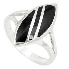 Black onyx enamel 925 sterling silver ring jewelry size 9 a75927 c13208