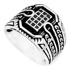 Black onyx round 925 sterling silver mens ring jewelry size 9 c11318
