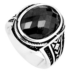 Black onyx topaz 925 sterling silver mens ring jewelry size 9.5 c11451