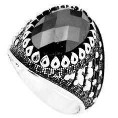 Black onyx topaz 925 sterling silver mens ring jewelry size 9 c11423